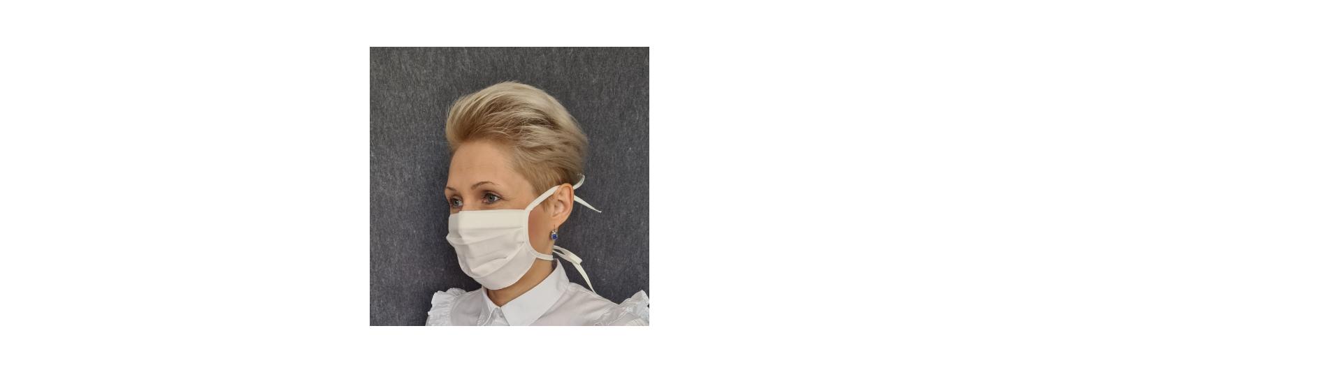 Gesichtsmaske mit Kordel (2er Set)