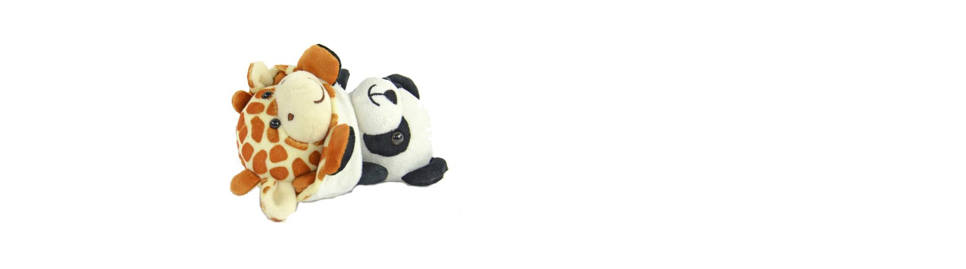 Wendeplüschtier Panda/Giraffe