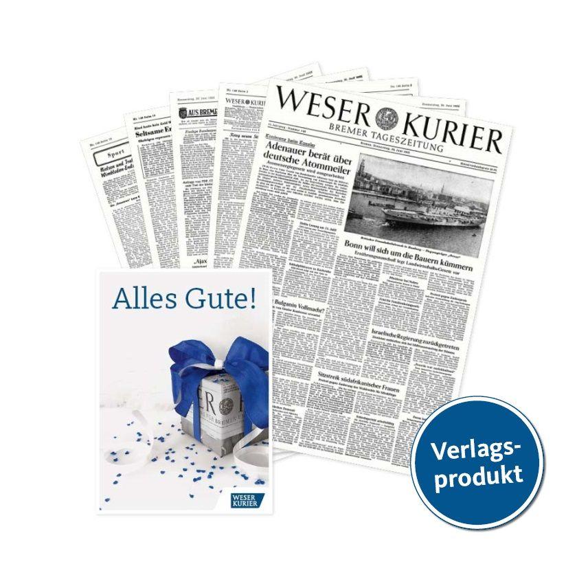 WESER-KURIER Geburtstagszeitung